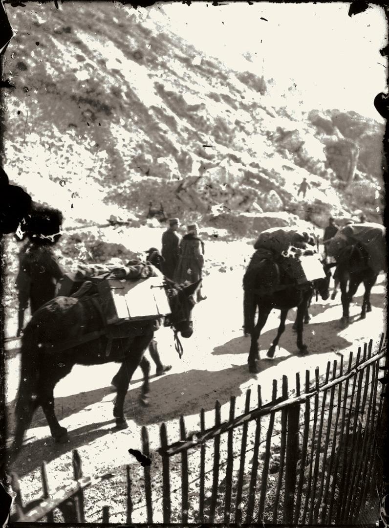 1. Trentino, 1917, retrovie del fronte italiano (Archivio Cidra)