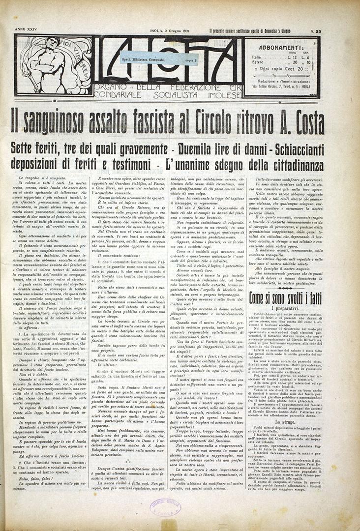4. La Lotta 2 giugno 1921 n. 23 (Bim)