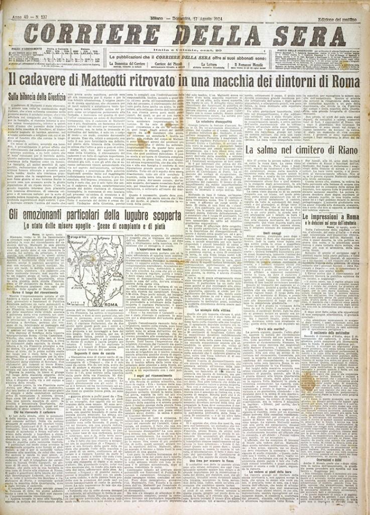2. Corriere della Sera 17 agosto 1924 n. 197 (Bim)