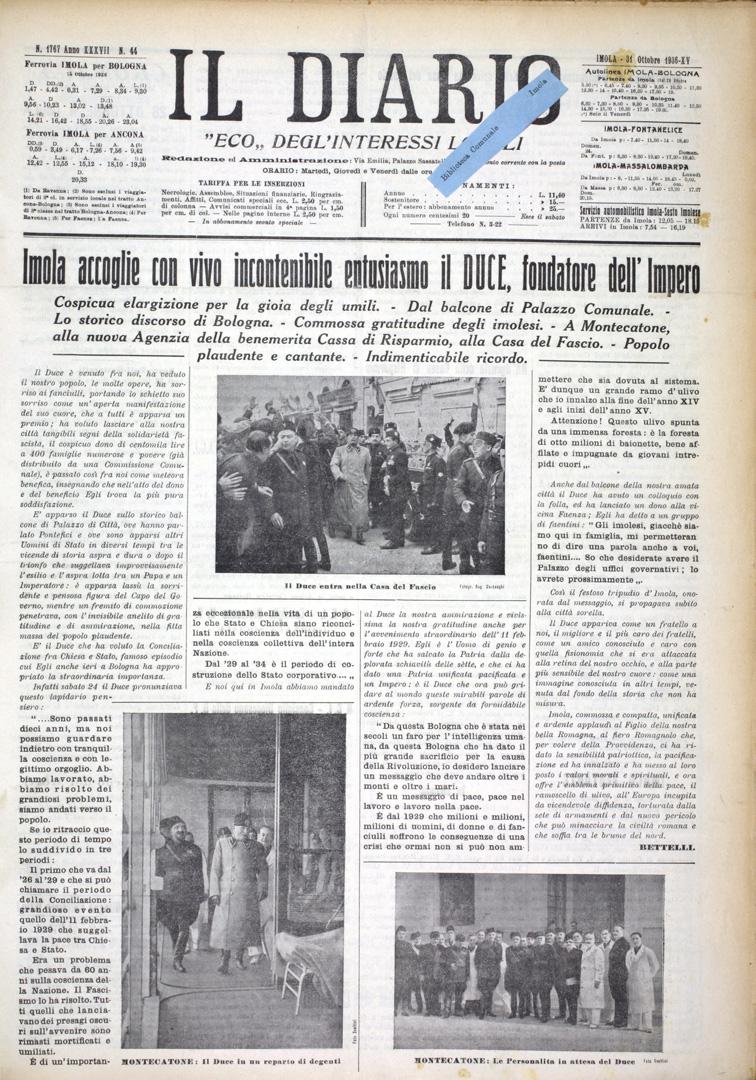 2. Il Diario 31 ottobre 1936 n. 44 (Bim)