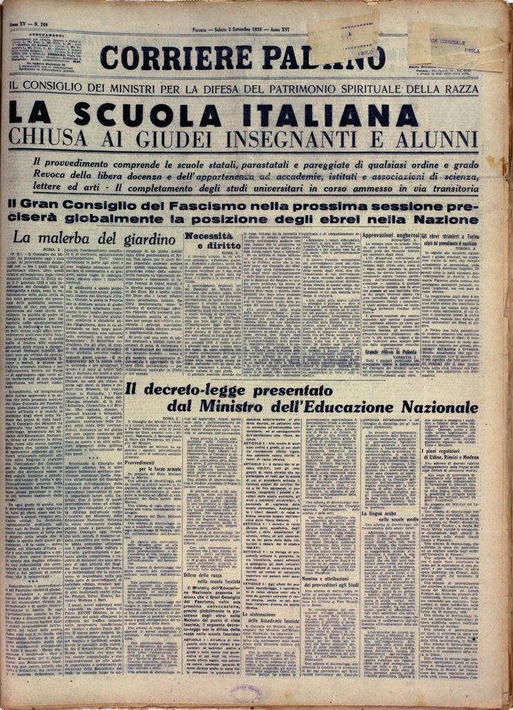 2. Corriere Padano, 3 settembre 1938, n. 209