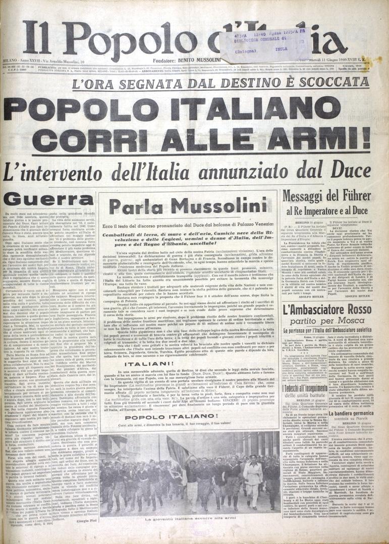1. Il Popolo d'Italia 11 giugno 1940 (Bim)