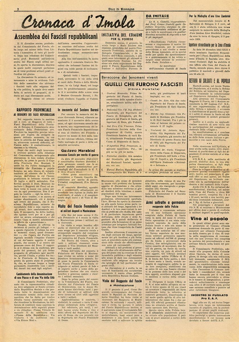 5. La Voce di Romagna 9/01/1944 D'Agostino p. 2