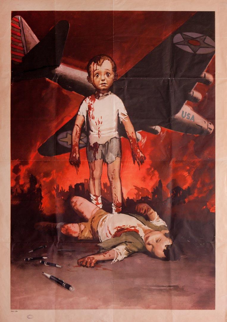 1. Manifesto di propaganda contro il nemico angloamericano (Archivio Cidra)
