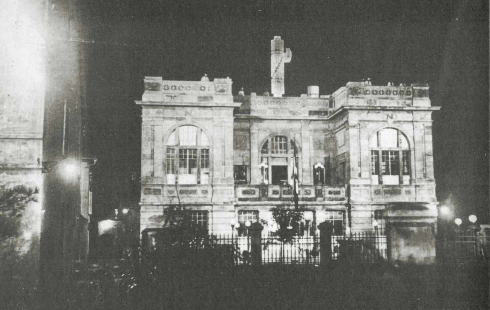 6. Imola, 1932, la sede dell'Opera Nazionale Dopolavoro nel giorno dell'inaugurazione alla presenza del Segretario del PNF Achille Starace (Archivio Franco Parenti)