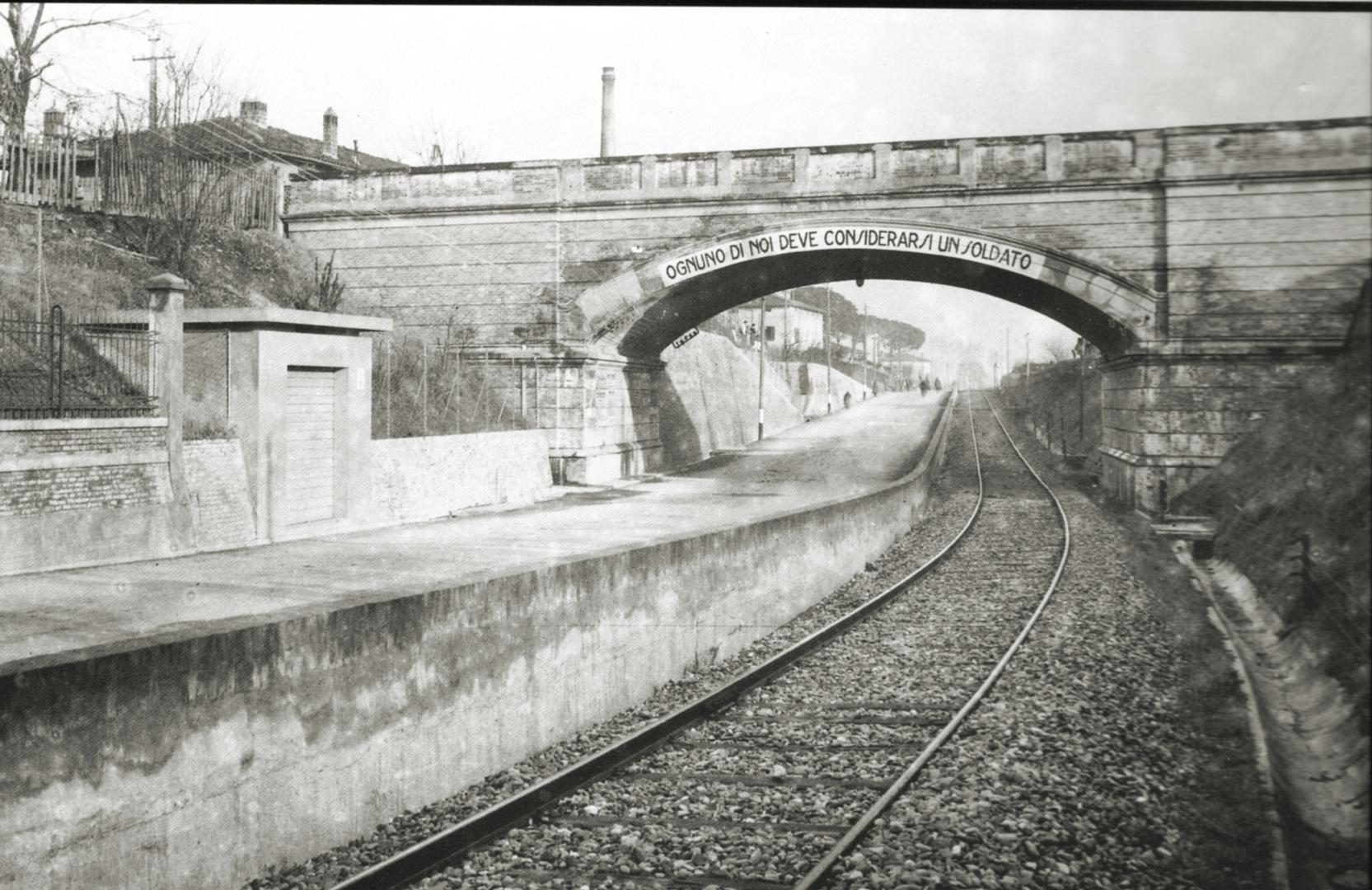 5. Imola, 1920-1930, via Selice ponte sulla ferrovia (Archivio Carlo Parenti)