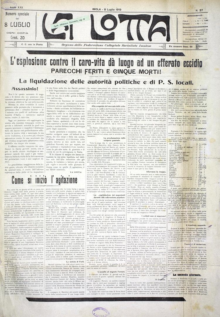7. La Lotta 8 luglio 1919 n. 27 (Bim)