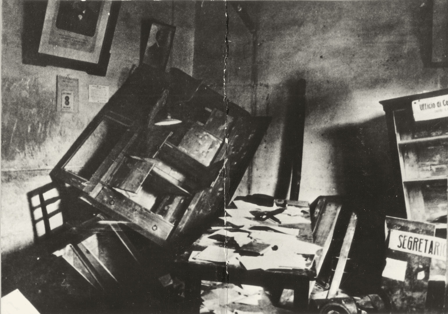 3. Castel San Pietro, 1921, Sede sindacale di Castel San Pietro devastata dalle squadre fasciste (Archivio Cidra)