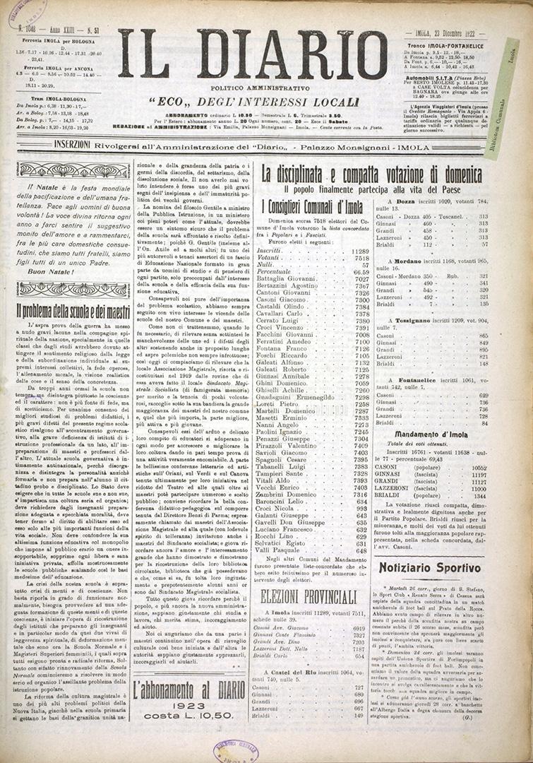 6. Il Diario, 23 dicembre 1922 n. 51 (Bim)