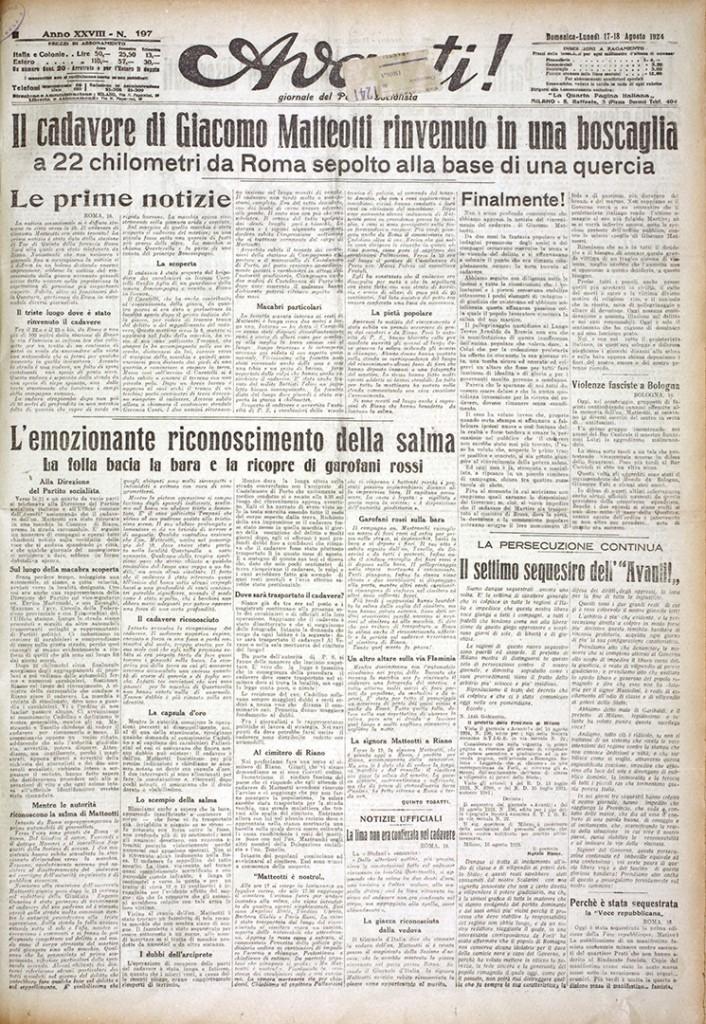 1. Avanti 17-18 agosto 1924 n. 197 (Bim)