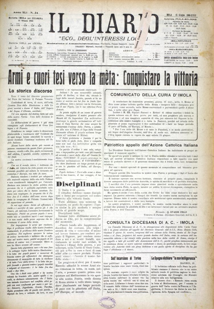 2. Il Diario 15 giugno 1940 n. 24 (Bim)