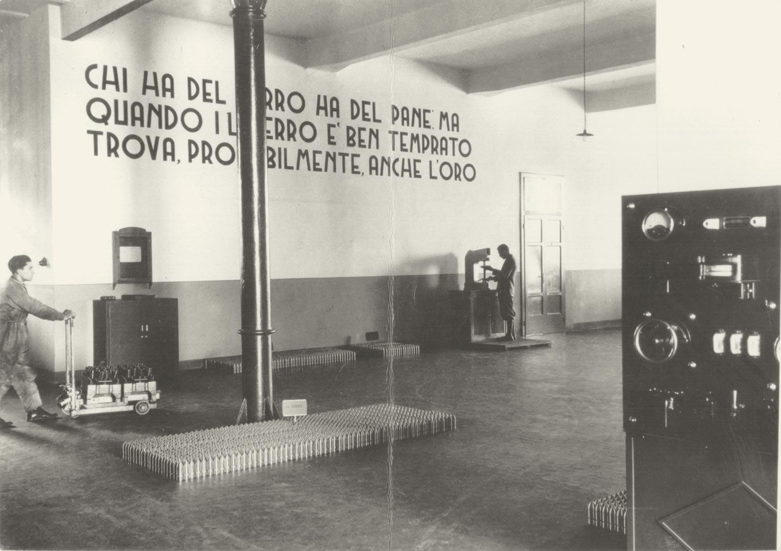 3. Imola, 1940-1943, un reparto di lavoro dello stabilimento Cogne