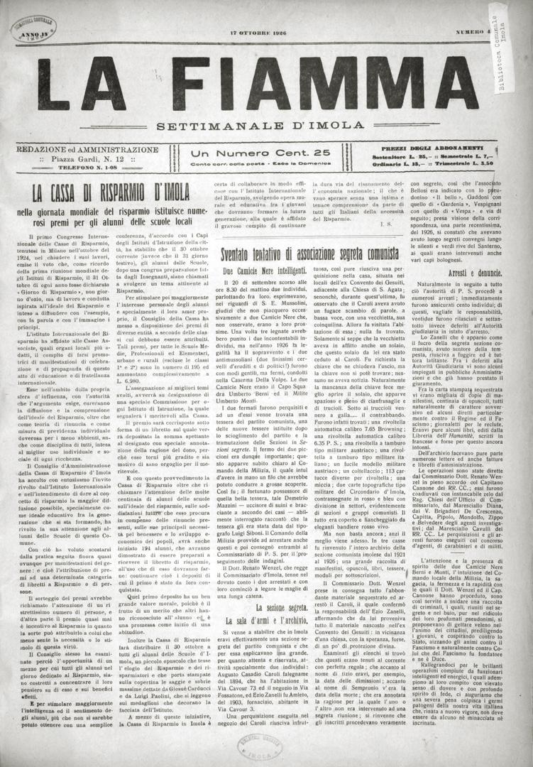 1. La Fiamma 17 ottobre 1926 (Bim)